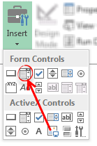 Insert combo-box form controls - Excel
