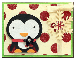 Christmas Card in Excel Background - Gregory