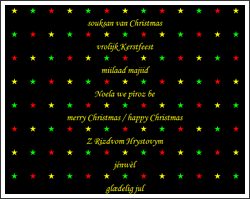 Merry Christmas in multiple languages - Modeste