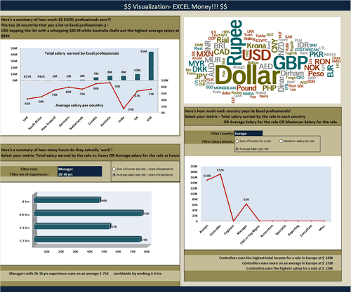 Dashboard to visualize Excel Salaries - by Vinita Varier - Chandoo.org - Screenshot
