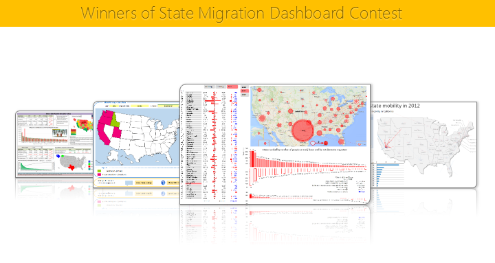Winners of state migration dashboard contest