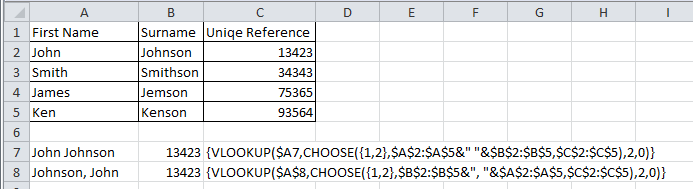 Handling inconsistent data with multi-condition array lookup formulas