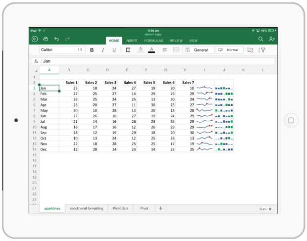 Excel for iPad - Demo & Introduction to it