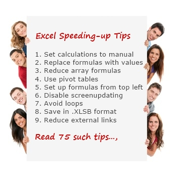 75 Excel Speeding up Tips - How to speed-up & optimize slow Excel workbooks?