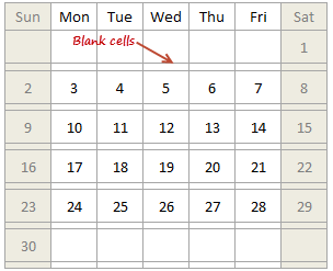 Calendar Chart - add empty rows so that we can show the color scales