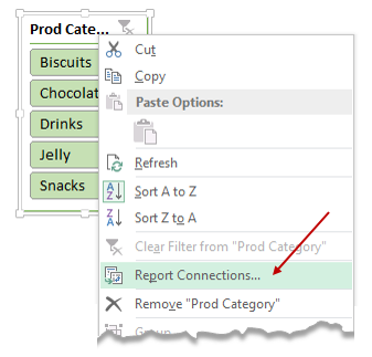 Report connections - linking slicers to more than one pivot table report