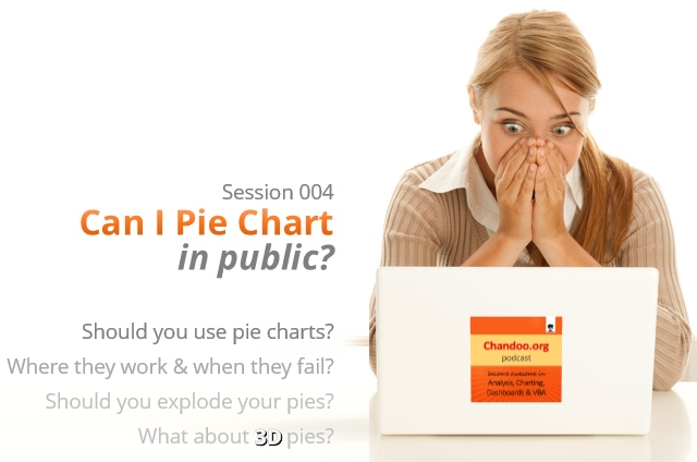 CP004: Can I Pie Chart in public? - Discussion about merits & drawbacks of Pie charts, whether you should use them or avoid.