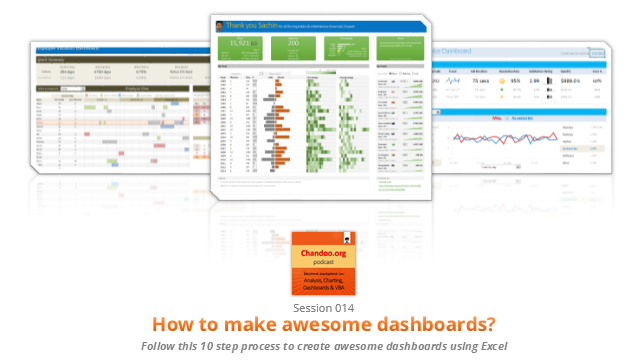 CP014: How to create awesome dashboards – 10 step process for you