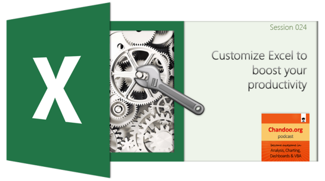 CP024: Customize Excel to boost your productivity