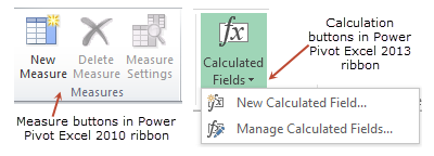 Creating a measure - Excel 2010 vs. Excel 2013