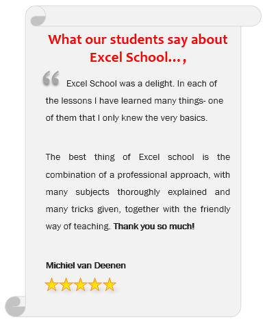 Excel School Testimonial - What do our students say about us?