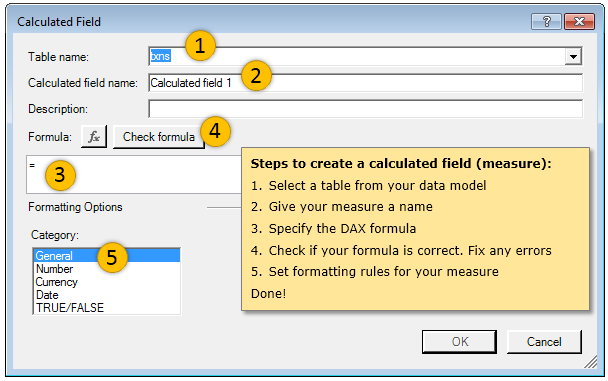 Creating a new measure in Excel Power Pivot - Demo