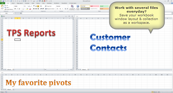 Work with several Excel files everyday? – Save them as a workspace [Quick tip]