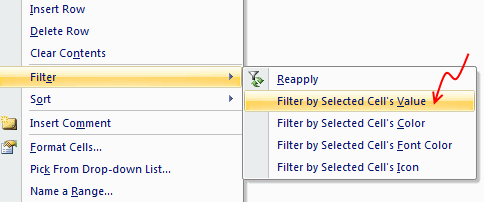 Use Filter By Selected Cell's Value to save time [Quick Tips]