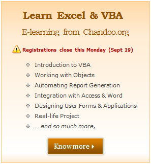 Our VBA Class Registrations Close in Few Hours, Join Now & Learn Excel VBA