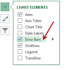 Adding error bars  - ABC inventory analysis in Excel