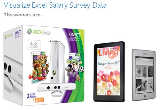 Excel Salary Survey Dashboard Contest Winners