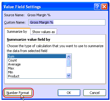 Number Format - Pivot Table Fields