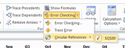 Highlight Circular Refs - Excel's Auditing Functions