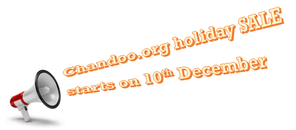 Chandoo.org sale - begins on 10th December & ends on 12th December.