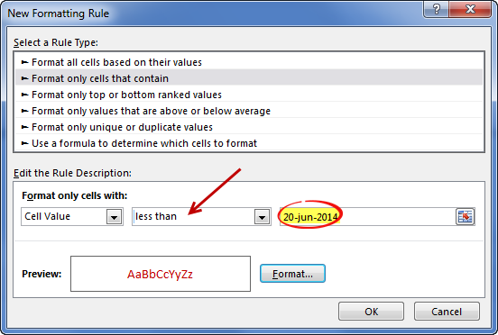 how to set up auto date in excel