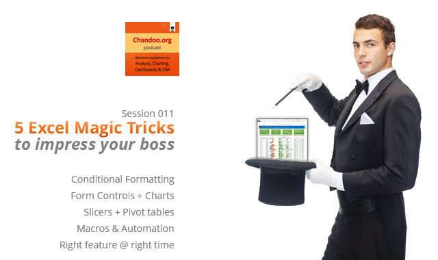 CP011: 5 Excel magic tricks to impress your boss