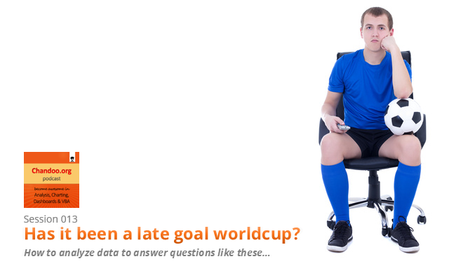 CP013: Is this a FIFA worldcup of late goals, lets ask Excel [How to analyze data to answer questions like these…]