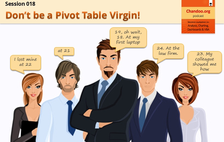 CP018: Don't be a Pivot Table Virgin! - Introduction to Excel Pivot Tables - Chandoo.org Podcast