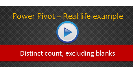 Distinct count & duplicates using Power Pivot 2010, Excel 2013 - Video example