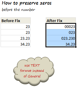 Use Text Format to Preserve Leading Zeros in Excel [Quick Tip]