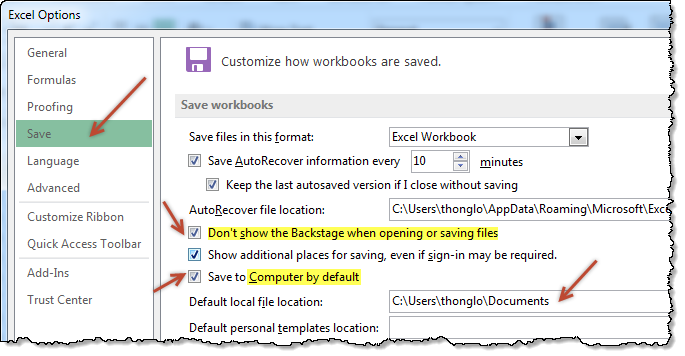 Open and save files faster in Excel 2013 with this trick