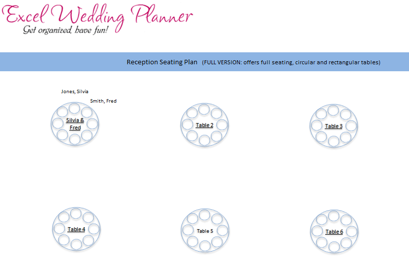wedding plan excel template