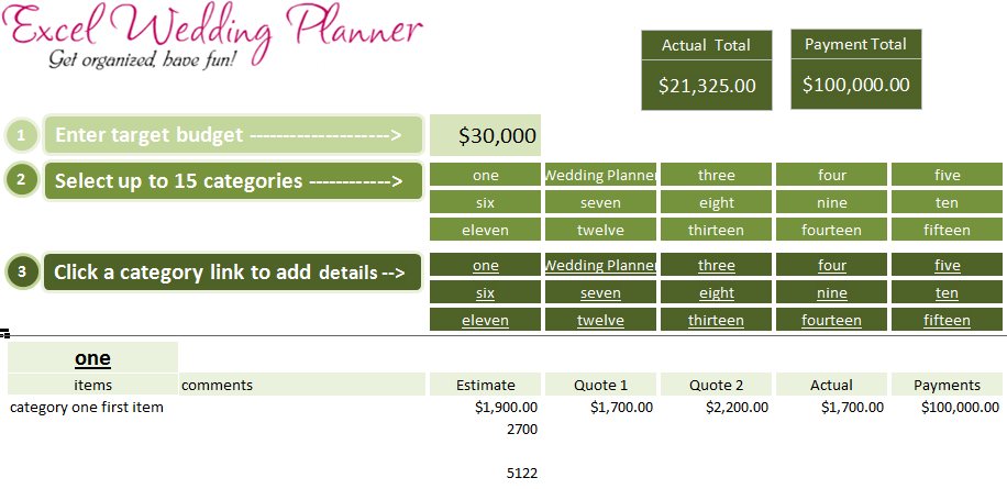 free excel wedding planner template download today learn excel power bi. Black Bedroom Furniture Sets. Home Design Ideas